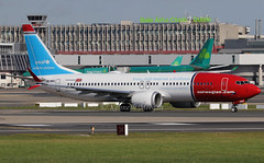 LN-BKC (Ken Meegan) Tags: lnbkc boeing737max8 42836 norwegian dublin 9102018 unicef logojet boeing737 boeing 737 b737 max max8