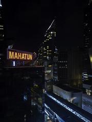 Gotham (J-B Kucharski) Tags: bangkok thailand night gotham neon blue red light 500px atmosphere dark scale building skyscraper metro black mahatun windows asia city bangkokmetropolitanregion th people waiting