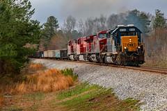 CSX Q542-18 (Steve Hardin) Tags: locomotive engine standardcab emd sd402 ac4400cw es44ac canadianpacific csx ka etowah railroad railway railfan manifest freight train rydal georgia