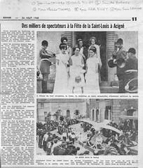 Des milliers de spectateurs à la fête de la Saint-Louis à Acigné en 1968.