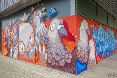Graffs ! (Steph Land) Tags: graff graffs graffiti spray sprayart artiste art artderue street streetart zeiss zeisslens carlzeisslenses carlzeiss peinture peintre caps aerosol stom500 pigeon oiseau oiseaux