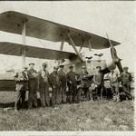 The HaWa F 10 triplane with the building crew posing in front [Germany, 1919] thumbnail