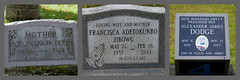 Centuries Apart (Just Say Jules!) Tags: photochallenge october cemetery graveyard oakwoodcemetery saginawmichigan