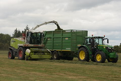 Claas Jaguar 890 SPFH filling a Smyth Trailers Field Master Trailer drawn by a John Deere 6155R Tractor (Shane Casey CK25) Tags: claas jaguar 890 spfh filling smyth trailers field master trailer drawn john deere 6155r tractor green jd self propelled forage harvester rathcormac traktor traktori tracteur trekker trator ciągnik silage silage18 silage2018 grass grass18 grass2018 winter feed fodder county cork ireland irish farm farmer farming agri agriculture contractor ground soil earth cows cattle work working horse power horsepower hp pull pulling cut cutting crop lifting machine machinery nikon d7200