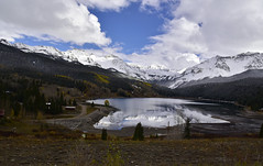 FROZEN LAKE (concep1941) Tags: mountains snow clouds lakes panorama landscape