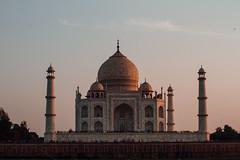 Taj Mahal At Sunset, Agra India