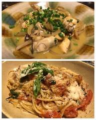 牡蠣のバター醤油炒め ツナとトマト、バジルのスパゲッティ (naoking18) Tags: ifttt instagram
