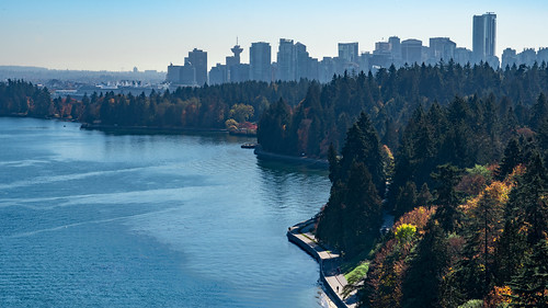 Stanley Park from the Lions Gate Bridge