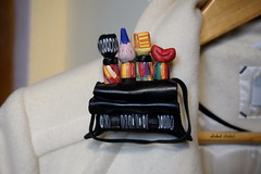 """""""CRAZY BEADS"""" (Fimeli) Tags: polyclay polymerclay brooch pin brosche handmade handwork colors"""