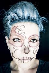 Almost like Kate (Melissa Maples) Tags: antalya turkey türkiye asia 土耳其 亚洲 nikon d3300 ニコン 尼康 sigma hsm 1020mm f456 1020mmf456 me melissa maples selfportrait woman bluehair díadelosmuertos blue catrina calavera dayofthedead halloween darkness dark