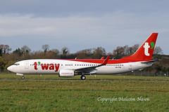 B737 A6-FDK (HL8327) T'WAY 2 (shanairpic) Tags: jetairliner passengerjet b737 boeing737 shannon iac eirtech flydubai tway a6fdk hl8327