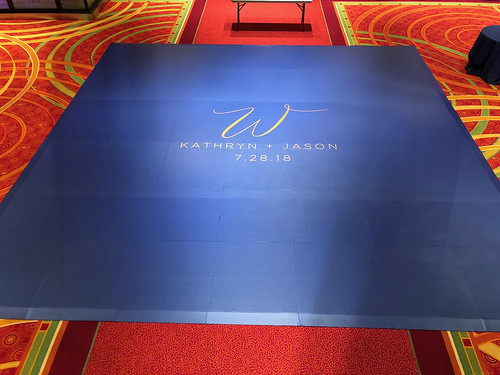 """Navy Blue Vinyl Wrapped Dance Floor by Unique Events at Coralville Marriott in Iowa • <a style=""""font-size:0.8em;"""" href=""""http://www.flickr.com/photos/81396050@N06/29886364387/"""" target=""""_blank"""">View on Flickr</a>"""