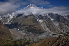 Mont Blanc et Italie - Italy (CHAM BT) Tags: glacier moraine vallee montblanc gris nuage rocher arete rando arbre sapin valley grey cloud rock ridge hike walk tree fantasticnature frontiere italie valveny border
