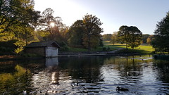 A day out at Shibden Park Lake. (Richard Abson) Tags: halifax calderdale shibden park lake autumn samsung galaxys6 boat house boathouse trees water reflection sky birds