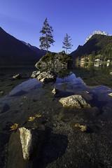 Morning view at Hintersee (Omnitrigger) Tags: rocks tree mountains alps bavaria germany hintersee morning sunrise island lake