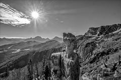 /\*/\ /\ (Heinrich Plum) Tags: heinrichplum plum fuji xt2 xf1024mm mountains mountain berchtesgadenerland berge berchtesgadeneralpen schwarzweiss bnw alpen alps bavaria bayern bgl sonne sun gegenlicht backlight rocks felsen felsenturm steinerneagnes lattengebirge