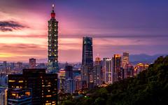 Taipei sunset (JohnNguyen0297 (busy - on/off)) Tags: taiwan discovertaipei taipei 101 taiei101 sunset watchingsunset asia sony