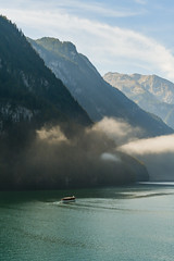Ferry Of A Fairytale (edgar_t) Tags: mountains clouds alps lake water ferry landscape königssee germany bavaria schönau boat