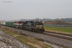 NS 285 at SLAPS (tim_1522) Tags: railroad railfanning rail missouri mo norfolksouthern ns stlouisdistrict intermodal emd sd70m2 c408m bcrail bcol cowl
