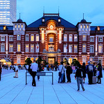 Tokyo Station Marunouchi station building on Twilight : 黄昏時の東京駅丸の内駅舎 thumbnail
