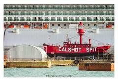 CALSHOT SPIT (frattonparker) Tags: btonner lightroom6 nikkor28300mm nikond610 raw frattonparker solent southampton docks lightship hampshire afsnikkor28300mmf3556gedvr