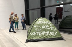 """THE EMERGENCY  WILL REPLACE THE CONTEMPORARY"" at Kuma Museum  ( Kunsthalle Mannheim ) (Thierry Geoffroy / Colonel) Tags: bonnephoto manet toolate édouard execution emperor maximilian artandeconomy kunsthalle mannheim museum thierrygeoffroy thierry geoffroy colonel documenta kassel documentakassel d13 tent zelt censuredart censored art censoredart kunst occupy movement biennalist fridericianum artist d14 athens"