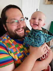 LegoDada and OctoBaby (quinn.anya) Tags: andy eliza baby smile father dad legos octopus tentacles