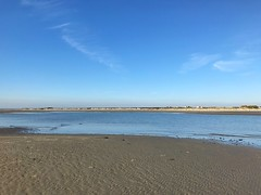 West Wittering At Low Tide (Marc Sayce) Tags: blue sky sunshine low tide sand beach west wittering sussex autumn october 2018 notrealtags bikini speedo topless naked nude milf