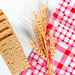 Diet dry cereals breads with spikelets of wheat