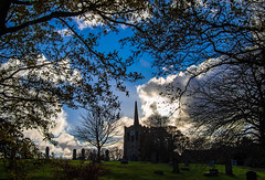 Out and about. Stanley. (CWhatPhotos) Tags: cwhatphotos stanley views county durham north east england street clouds cloudy sky olympus digital camera photographs photograph pics pictures pic picture image images foto fotos photography artistic that have which with contain artistc saint st andrews church yard graves grave skies cloud silhouette silhouettes tree trees flickr