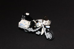 NYPD Motorcycle (sponki25) Tags: motorcycle harley davidson highway patrol nypd new york police department finest nyc lego moc
