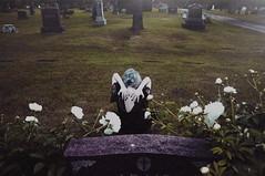 (emmakatka) Tags: cemetery graveyard headstones emmakatka woman portrait nails black dress lace northdakota