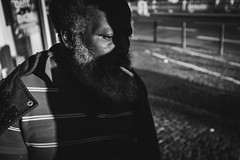 In need of Fire (Zesk MF) Tags: bw black white cigarette smoker beard afro zesk cologne street candid unknown strase man urban living life human smoke zigarette fuji x100f
