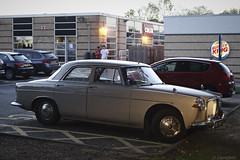 September ends (Dave S Campbell) Tags: september spotted rover p5 wagon railway van box rust flower classic car