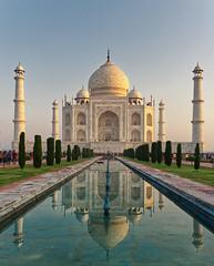 Taj Mahal (seantindale) Tags: tajmahal agra rajasthan india amazing historic beautiful olympus omdem5markii reflection sunrise