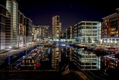 Return to Leeds Dock (EricMakPhotography) Tags: canal water river leeds cityscape reflection modern architecture boat