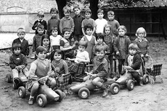 The best behaved get the cars (theirhistory) Tags: class school form pupils boy children kids girl skirt trousers shoes wellies dress boots
