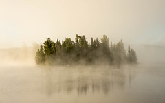 'Early One Morning' (Canadapt) Tags: lake fog mist morning sunrise island reflection keefer canadapt