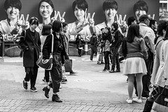 Every Day Is Halloween In Hipster Land (burnt dirt) Tags: asian japan tokyo shibuya station streetphotography documentary candid portrait fujifilm xt1 bw blackandwhite laugh smile cute sexy latina young girl woman japanese korean thai dress skirt shorts jeans jacket leather pants boots heels stilettos bra stockings tights yogapants leggings couple lovers friends longhair shorthair ponytail cellphone glasses sunglasses blonde brunette redhead tattoo model train bus busstation metro city town downtown sidewalk pretty beautiful selfie fashion pregnant sweater people person costume cosplay boobs