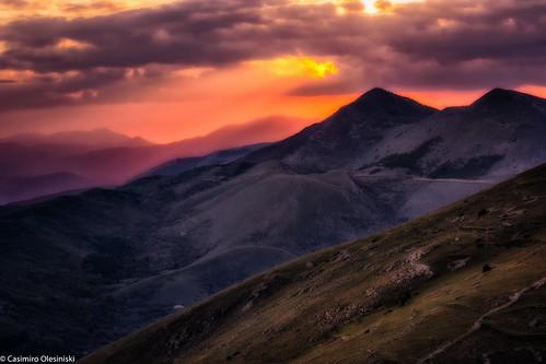 Tramonto sui monti