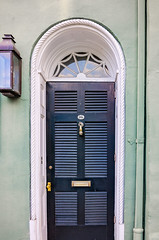 Green Rainbow Row front door on East Bay Street in Charleston South Carolina (CarmenSisson) Tags: charleston southcarolina rainbowrow neighborhood south southeasternus door usa unitedstates us america lowcountry eastbaystreet residence home travel tropical colorful cheerful architecture facade welcome welcomehome house 95 vertical