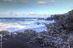 Blue sunday (Peter Szasz) Tags: maui hawaii hana rocks summer sea stones sky clouds blue water deep wave cool breeze hdr sand landscape nature shade shadows scenery tropical ocean outside foam