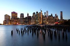 Manhattan seen from Brooklyn Park (twomphotos) Tags: newyork new york city manhattan usa united states america urban skyscaper tourist metropolis central park oculus lady libery island helicopter tour blue hour reflection bestoftrips