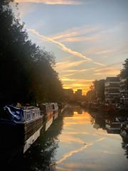 Hackney Evening III (marc.barrot) Tags: uk london hackney regentscanal canal sunset bright blue pink orange urban city landscape