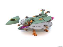 10 RETRO SPACE HERO'S SPACESHIP CABINE B.lxf (Nuno_0937) Tags: lego ideas classic space spaceship ship moc retro hero minifigure
