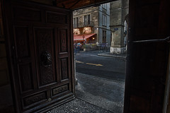 Looking Out From the Inside (Christopher Wallace) Tags: genève geneva suisse svizzera schweiz svizra switzerland swiss city hdr canton government offices building old town architecture nikon d500 digital wide angle super ultra 14mm manfrotto 458b road genevacanton