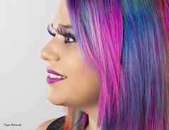 Fantasia (Pepa Morente ( 2.400.000 de VISITAS )) Tags: cabello fantasía color colores perfil pestañas mujer woman chica