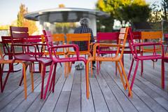 Chair vs. Chair (vtom61) Tags: redmond washingtonstate chair colorful redmonddowntownpark sonya7r supertakumar50mm14 pentax eightelement