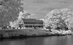 House Along Erie Canal (infrared) (dr_marvel) Tags: ir infrared pittsford ny newyork rochester