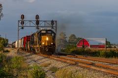 CSX 8019 @ Fostoria, OH (Michael Polk) Tags: csxt 8019 emd sd402 risingsun ohio pemberville subdivision co chesapeake signal barn freight train